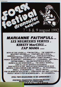 Dranouter poster, August 1992