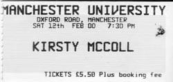 Manchester ticket. 2000