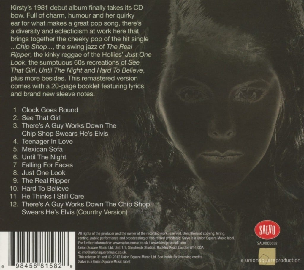 Desperate Character (2012 CD) back cover