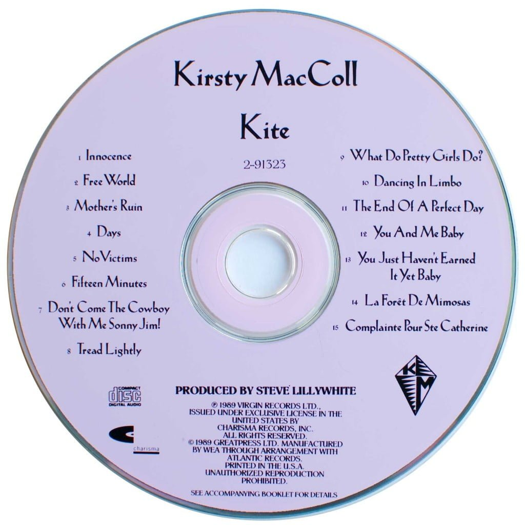 Kite (1989 US CD) disc