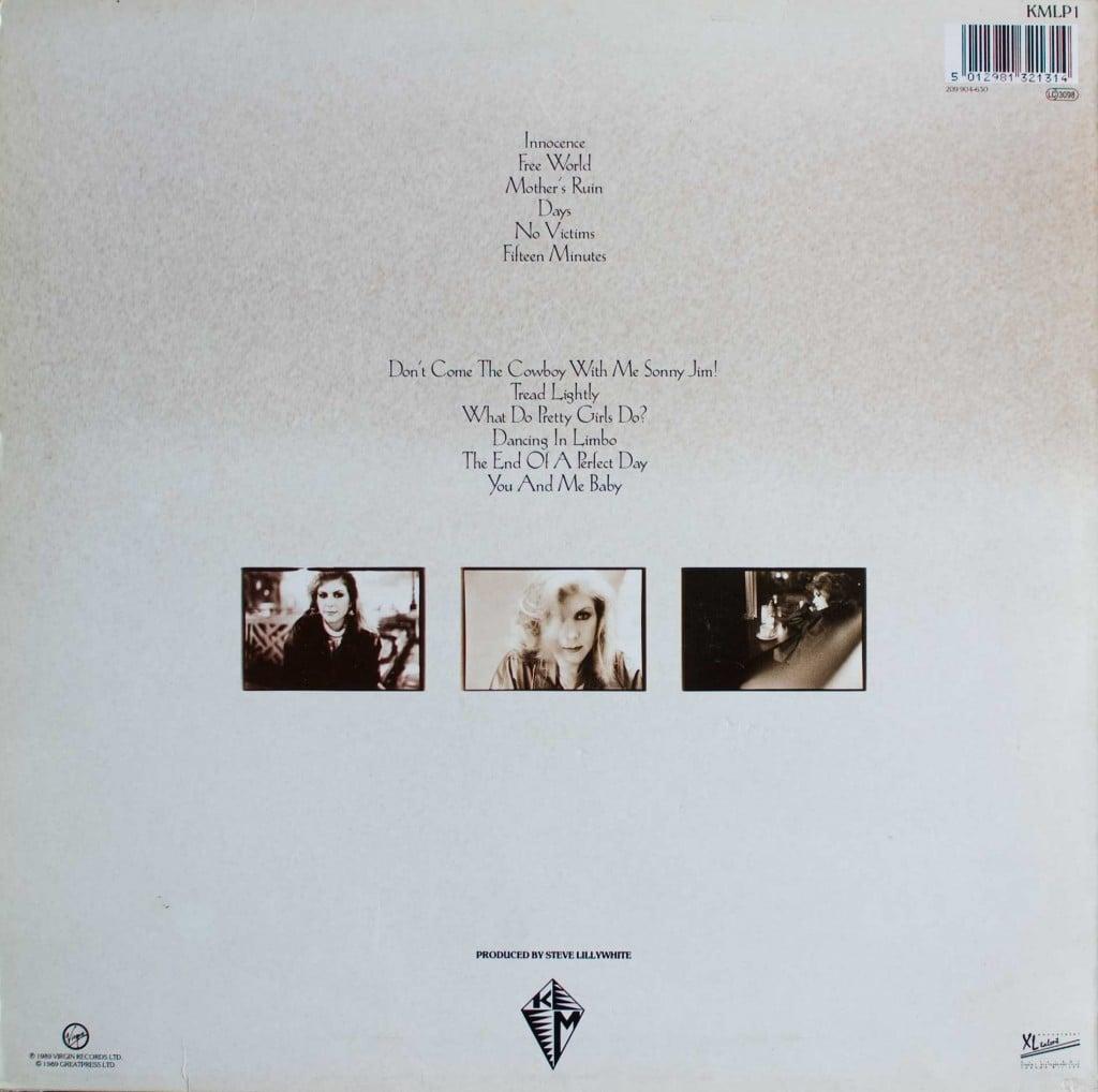 Kite (1989 LP) back cover
