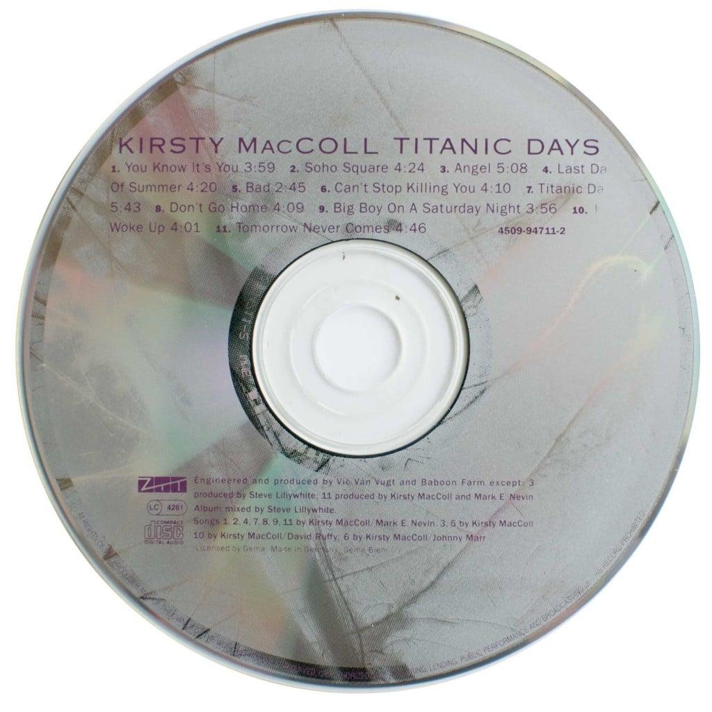 Titanic Days (1993 CD) disc