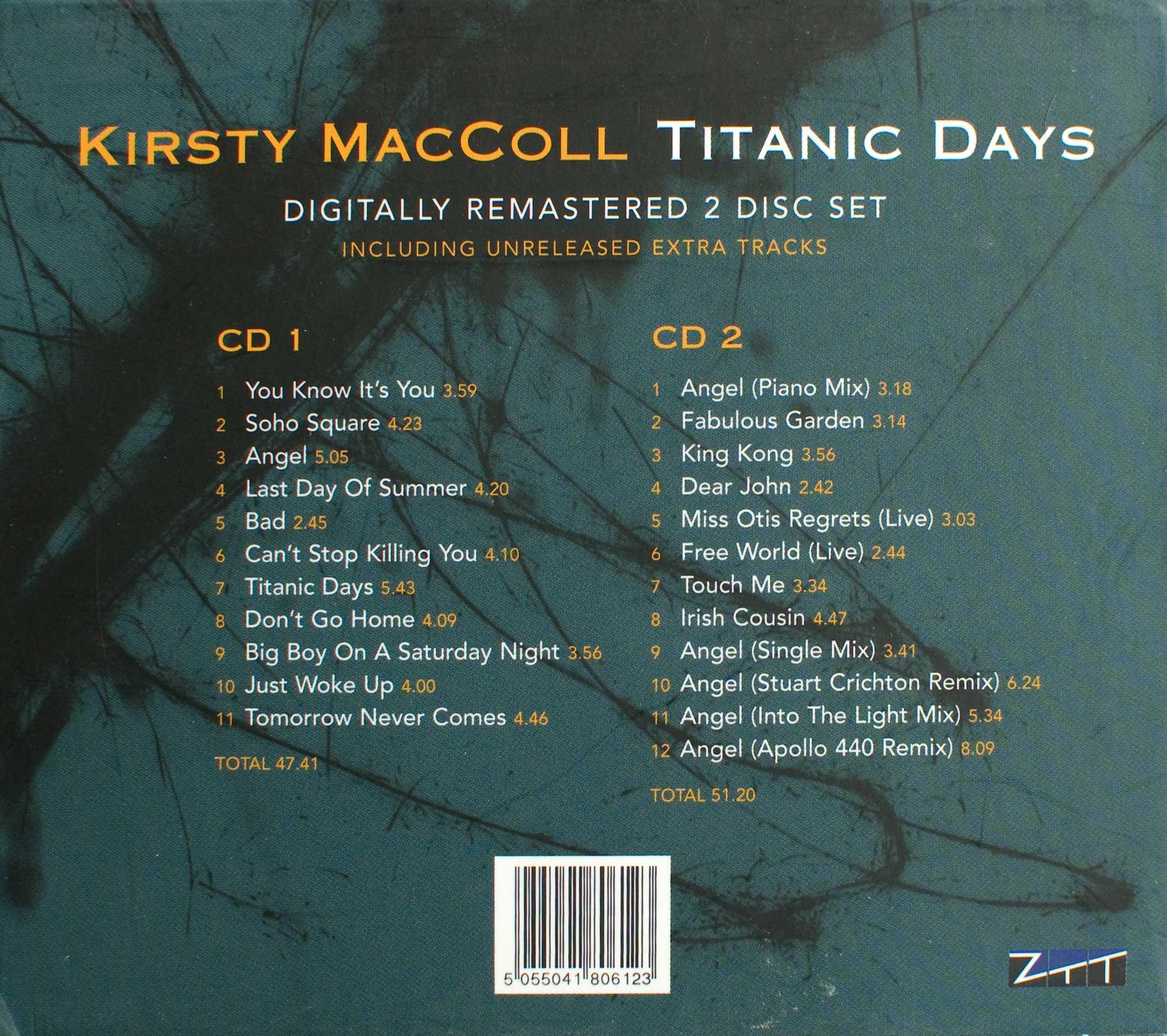 titanic days 2005 cd kirsty maccoll