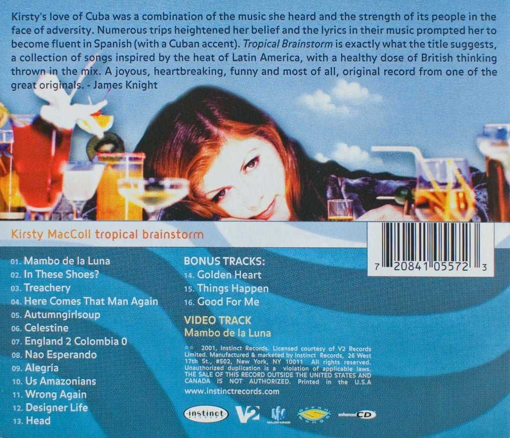 Tropical Brainstorm (US CD) back cover
