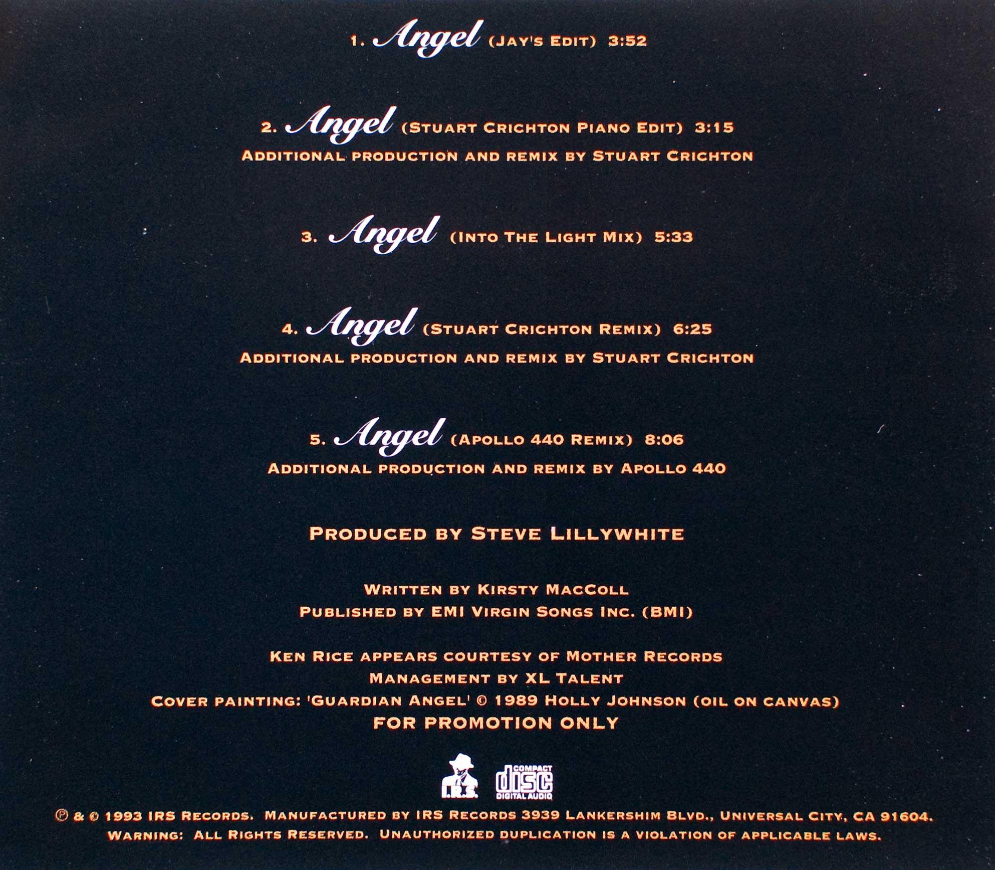Angel From Holly's World angel (cd promo single) - kirsty maccoll