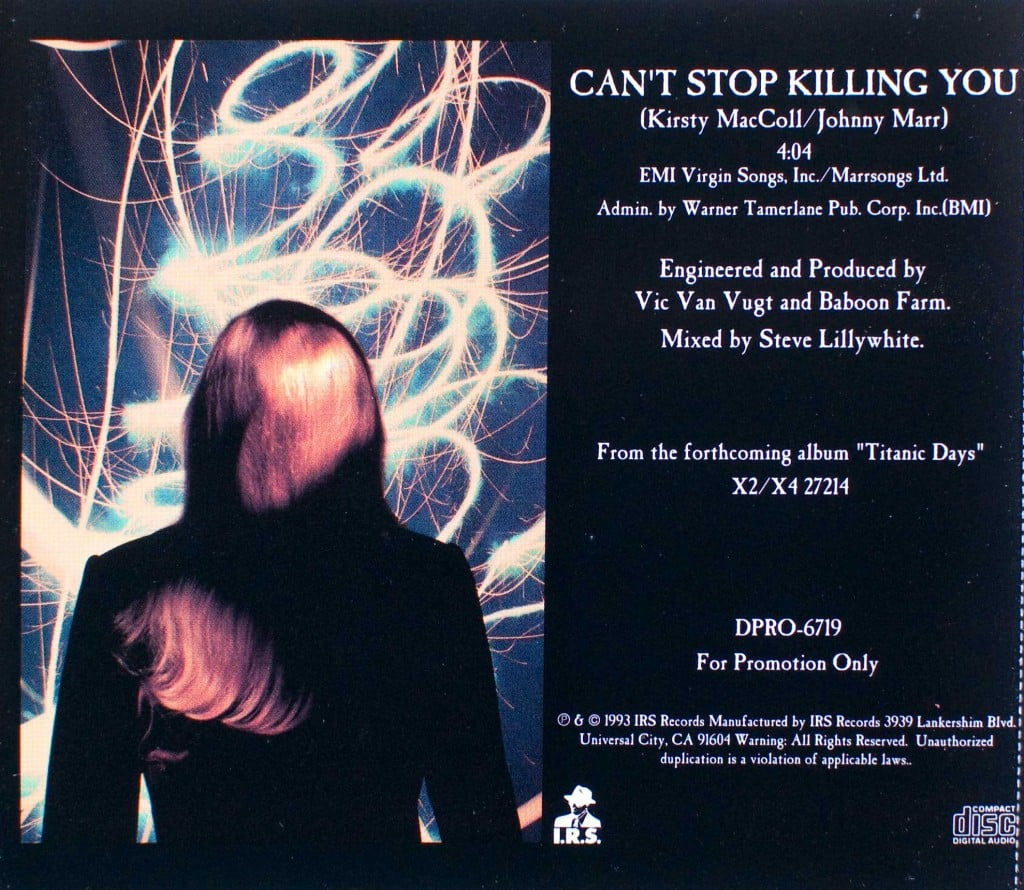 Can't Stop Killing You (US CD promo) back cover