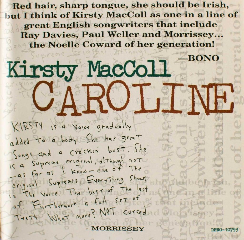 Caroline (CD promo) front cover