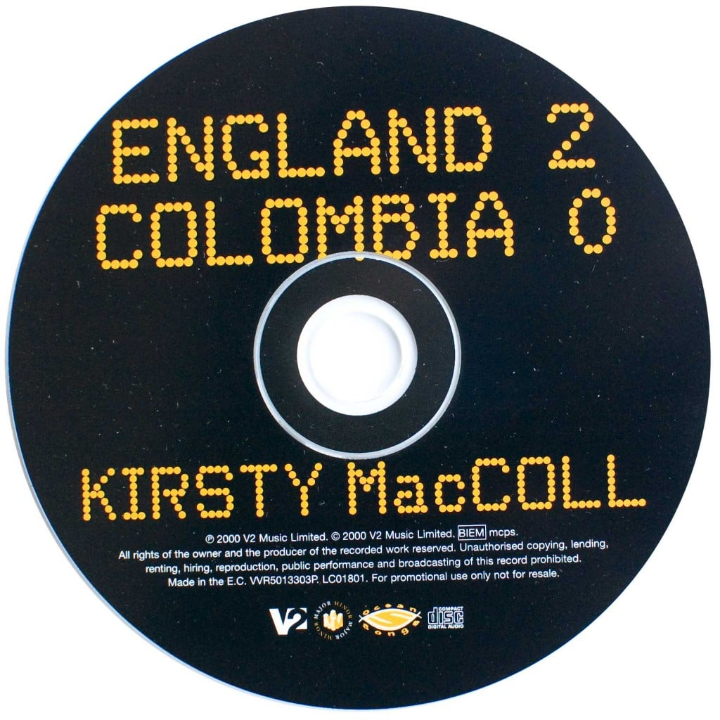 England 2 Colombia 0 (CD promo) disc