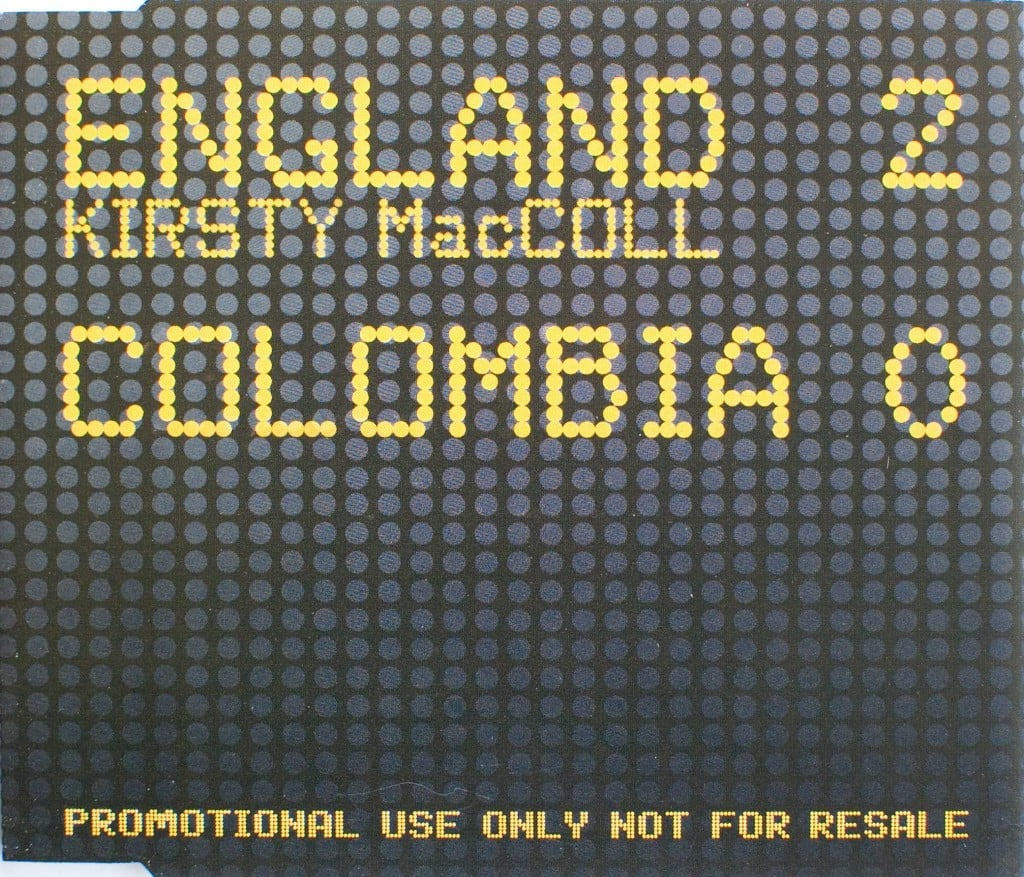 England 2 Colombia 0 (CD promo) front cover