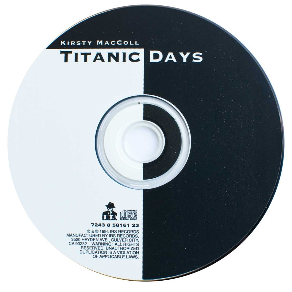 Titanic Days CD single (US) disc