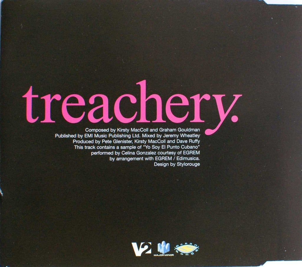 Treachery (CD promo) back cover