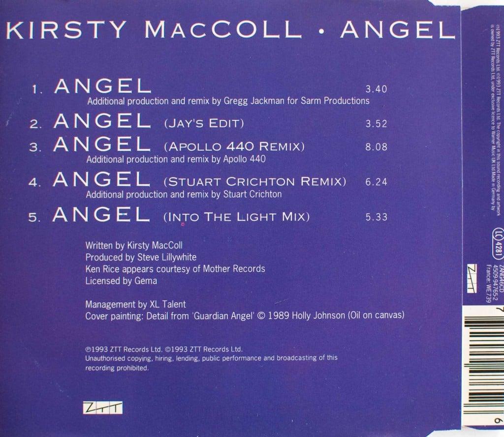 Angel (CD single) back cover