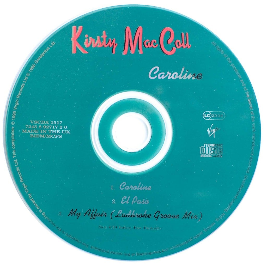 Caroline (CD single 2) disc