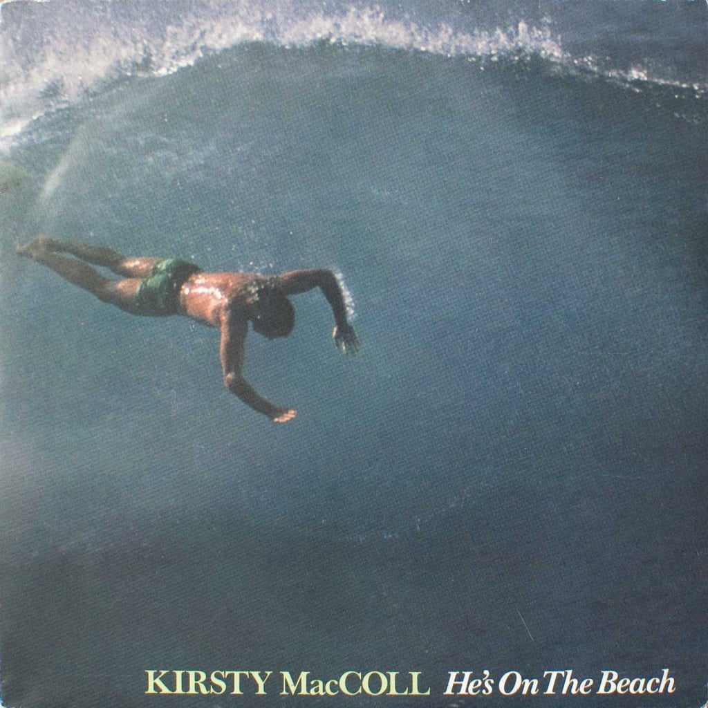 "He's on the Beach (7"" single) front cover"
