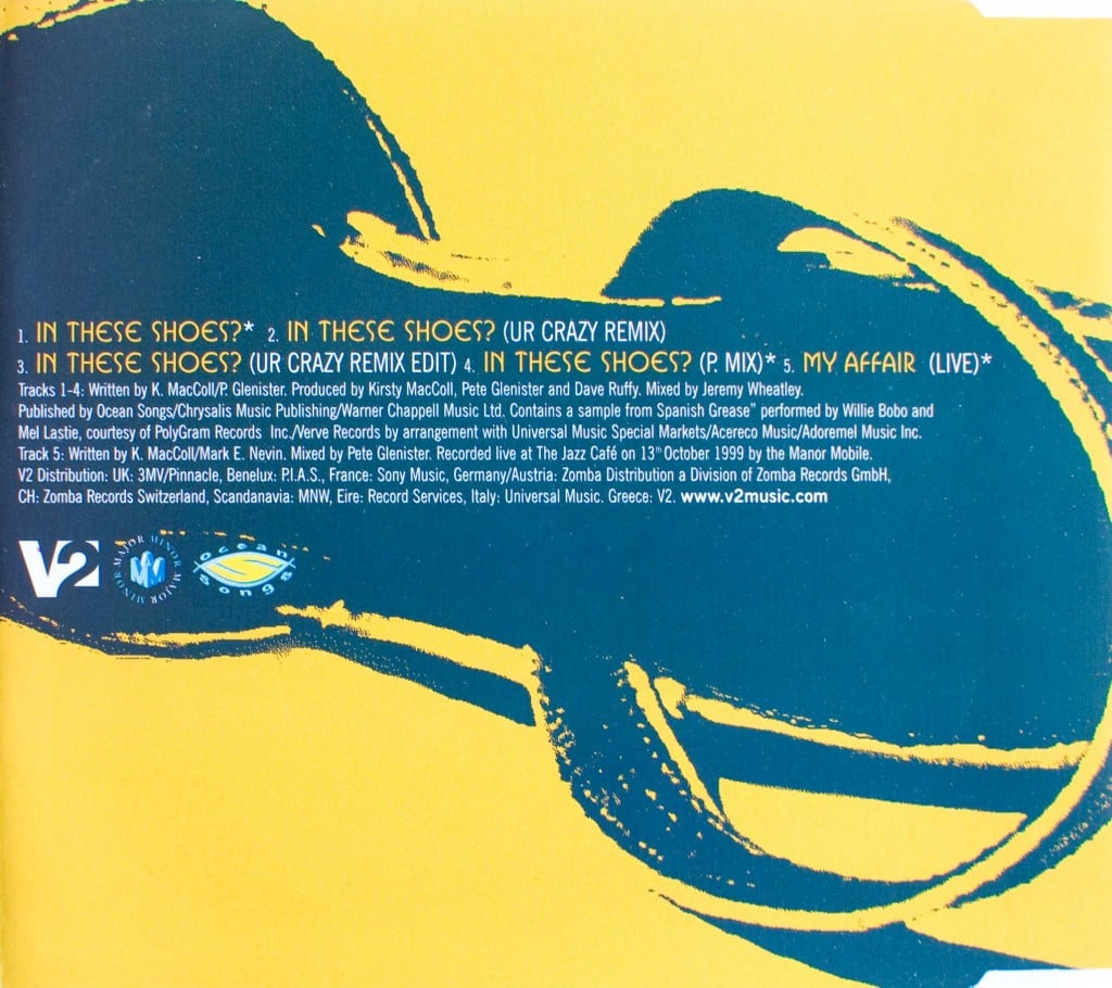 In These Shoes? (German CD single) back cover