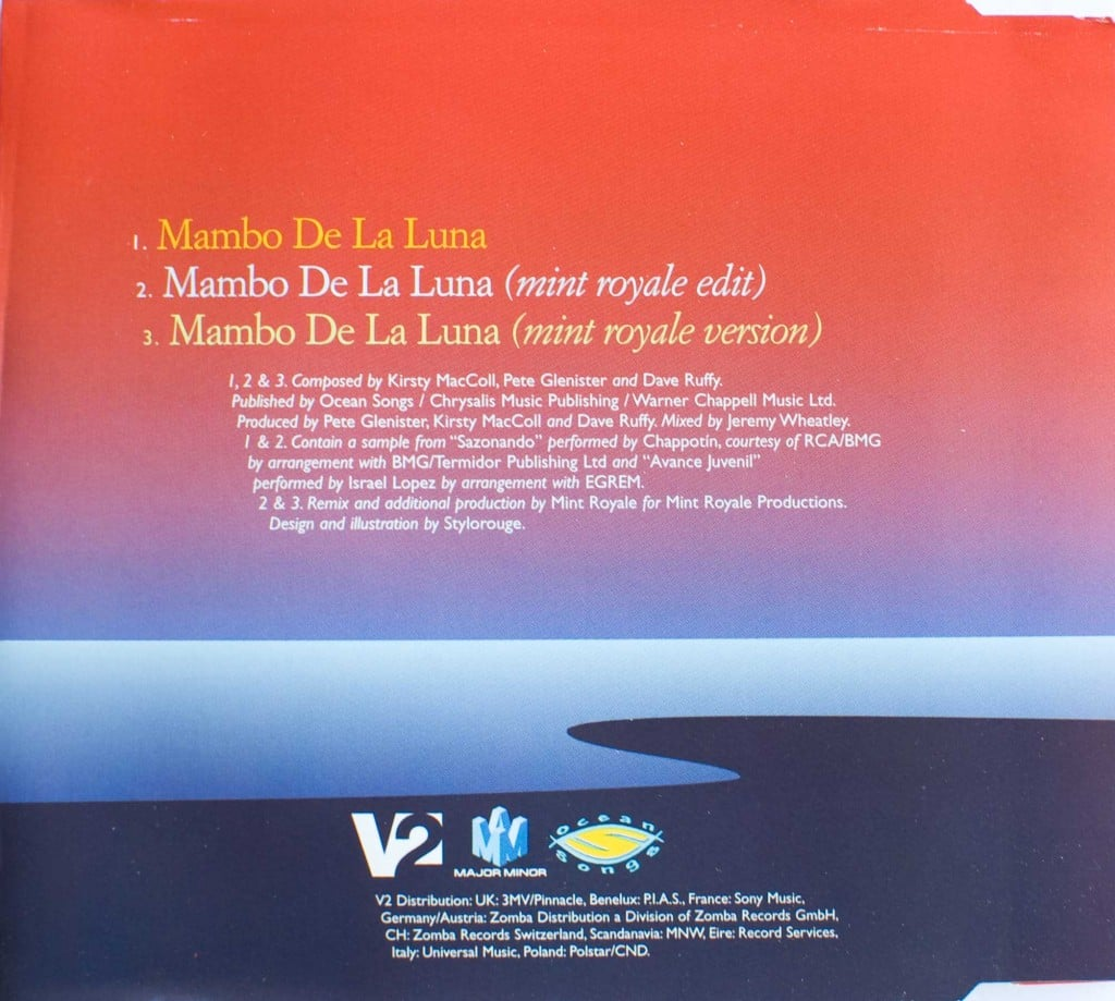 Mambo de la Luna (CD single 2) back cover