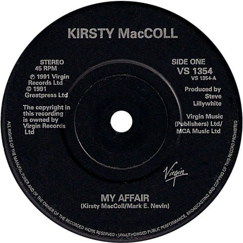 "My Affair (7"" inch) A side"
