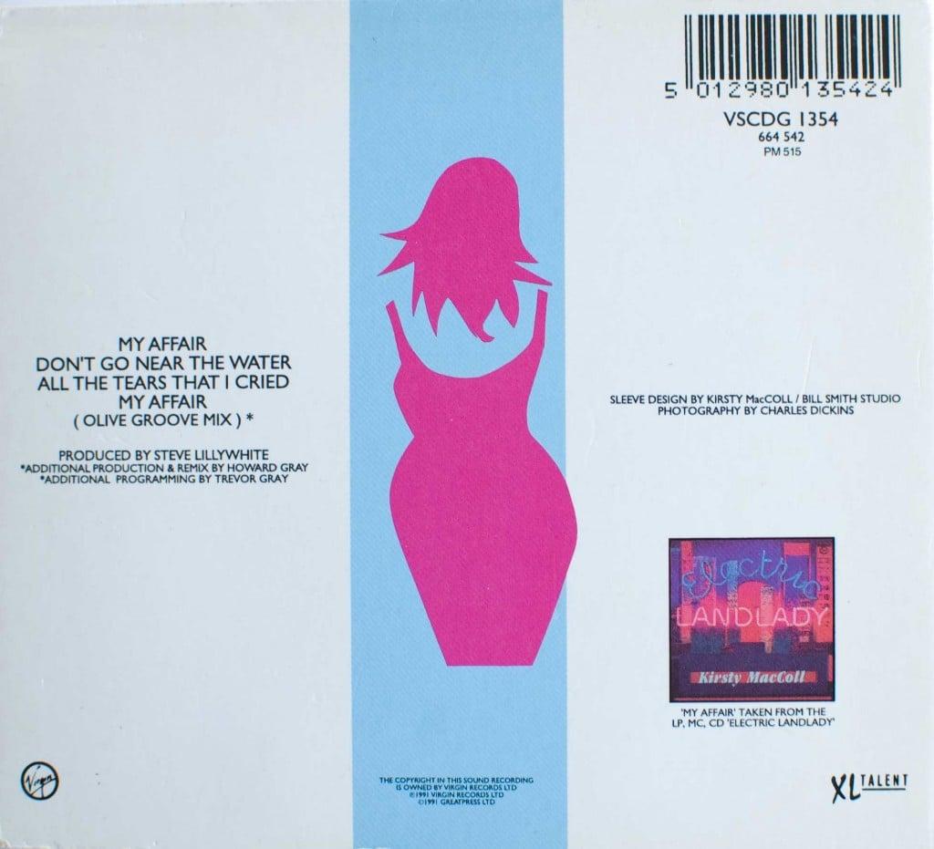 My Affair (CD single) back cover