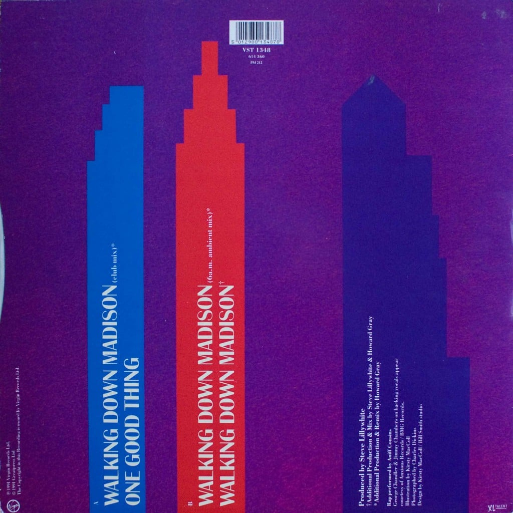 """Walking Down Madison (12"""") back cover"""