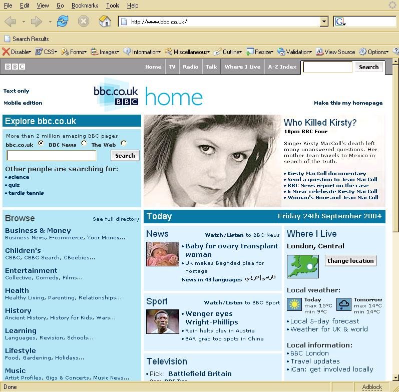 BBC web site entry for Who Killed Kirsty MacColl