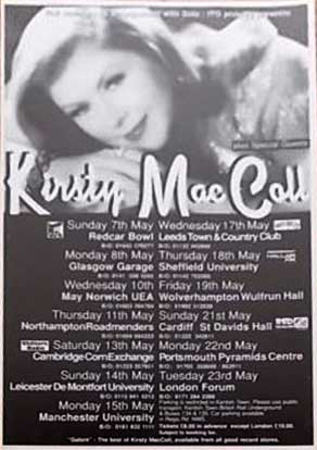 1995 Tour Flyer