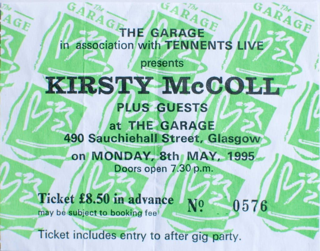 Glasgow Garage ticket, 8 May 1995